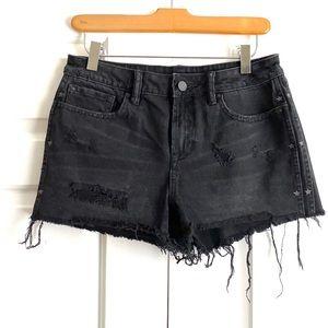 All Saints black denim jean shorts Sz. 27